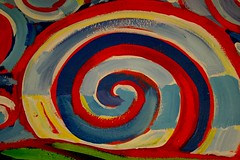 Psychedelic Spiral (Generik11) Tags: sf blue red art yellow mural foundinsf gwsf muralmonday