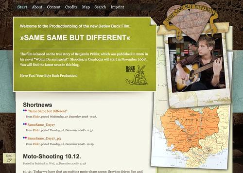 Screenshot: Same Same But Different Production Blog
