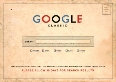 Google Classic card kaart