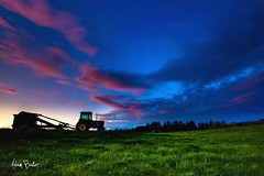 varna limousine ([Adam Baker]) Tags: county pink blue sunset ny tractor green grass weather clouds rural canon landscape twilight farm farming upstate ithaca tompkins cpl 1740l adambaker 5dmarkii