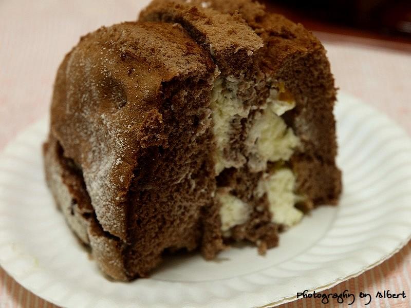 香提蛋糕(巧克力)內部