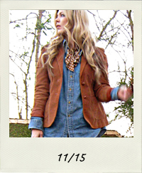 denim on denim, jeans, jean shirt, denim shirt, chambray, lace up boots, scarf tie, 11-15 outfit+what I wore