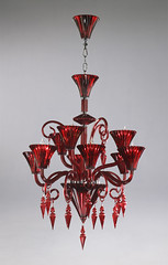 "4077 RED MURANO GLASS CHANDELIER • <a style=""font-size:0.8em;"" href=""http://www.flickr.com/photos/43749930@N04/5805151973/"" target=""_blank"">View on Flickr</a>"