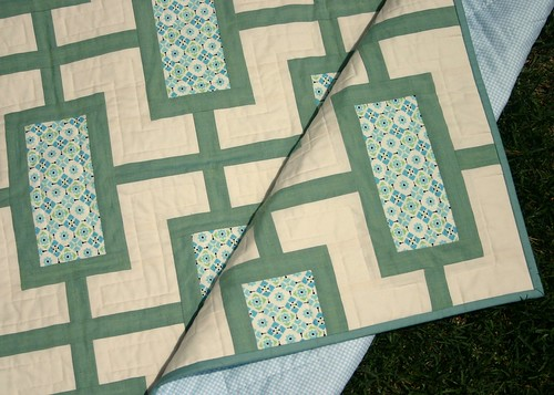 Mod Times Quilt - backing