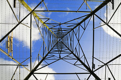 Pylon (pharriergraph) Tags: sky up interesting construction view pylon devon manmade