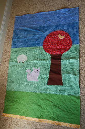 Finished baby quilt for upcoming Souzek #3