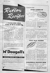 Ration Recipes, British 1940