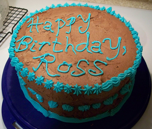 Ross Happy Birthday Cake