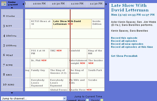 "BeyondTV's ""couchville""-style TV Guide"