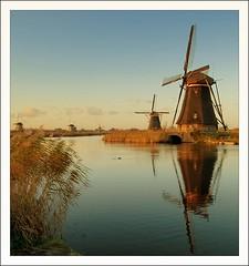 Kinderdijk (peter gertenbach) Tags: holland water wolken windmills shield lucht kinderdijk wieken zuid excellence molens blueribbonwinner