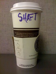 Can you dig it? (morrowplanet) Tags: coffee starbucks shaft ylnt lattename