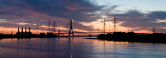 River Dee Sunset Panoramic (Stu Worrall Photography) Tags: wales docks canon river 50mm stitch north panoramic quay explore f18 dee wfc connahs stuworrall