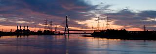 River Dee Sunset Panoramic