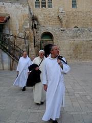 Priests on a Pilgrimage (debchePhotography) Tags: churchoftheholysepulchre golgotha tombofjesus oldcityofjerusalem resurrectionofjesus jesuscrucifiction anointingstone therockofcalvary