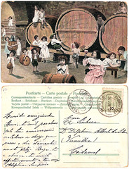 Vintage postcard, 1907 (CGoulao) Tags: old classic portugal vintage paper post mail wine antique postcard card oldphoto cave vin postal papel papier vinho pipa adega ancienne antigo 1907 clssico correio postalcard tarjetapostal postkard cartepostal bilhetepostal