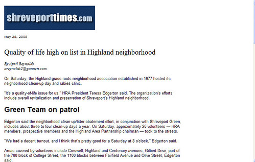 Quality of Life High on List in Highland Neighborhood