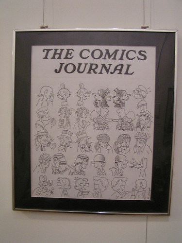 Original art for The Comics Journal by R. Sikoryak at MoCCA