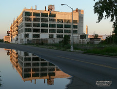 Reflections of the past.... (DetroitDerek Photography ( ALL RIGHTS RESERVED )) Tags: usa reflection abandoned industry car june america buick ruins automobile midwest closed industrial urbandecay detroit automotive cadillac historic vacant fisher 2008 1921 manufacture albertkahn 313 motown motorcity fisherbody thedonkeylikesdecay norainbowaftertherainthough