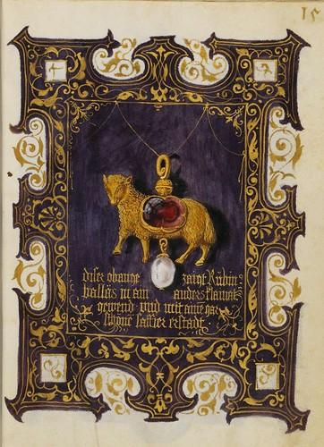 Colgante Agnus Dei con rubi y perla 15 r