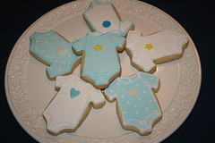 Cookie Favours (irresistibledesserts) Tags: boy baby cookie baptism christening