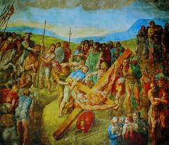 Michelangelo, The Crucifixion of St. Peter, c.1546 -- 1550, Capella Paolina, Vatican Palace (Ray .) Tags: michelangelo fresco renaissanceart italianrenaissance vaticanpalace capellapaolina thecrucifixionofstpeter c15461550