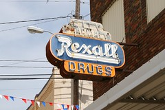 rexall neon sign in grand saline