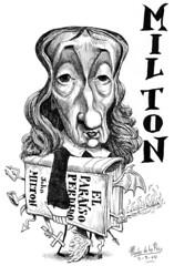 MILTON, John (Morales de los Ros) Tags: writers caricaturas philosophers caricatures escritores filsofos