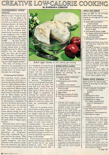 1973 Low-Calorie cooking
