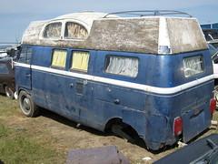 VW Camper Van (dave_7) Tags: 2 car vw volkswagen rust rusty type junkyard scrapyard van camper lethbridge type2 funkyvwvan