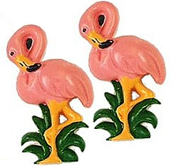 Flamingo buttons!