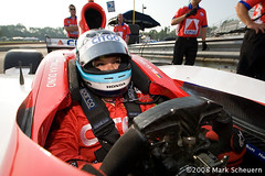 Milka Duno (Mark Scheuern) Tags: woman car pits female honda cockpit racing crew driver 2008 motorsports motorsport irl autosport citgo indycar duno scheuern midohio indyracingleague dallara milkaduno markscheuern midohiosportscarcourse