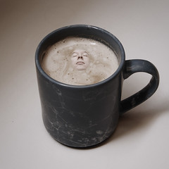 09[52] - Coffee (jæms) Tags: selfportrait me coffee square topf50 drink explore mug espresso caffeine totallyworthit strobist impressedbeauty nophotoshopatallbutbuildingthegiantcoffeemugtook300kgofclay