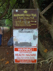 Trailhead of Maunawili Falls hike