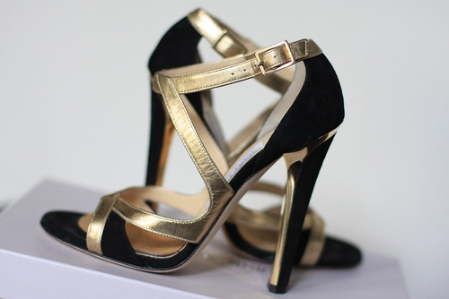 Gold Jimmy Choo