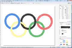 Olympic Rings Styled in Autodesk Impression 2