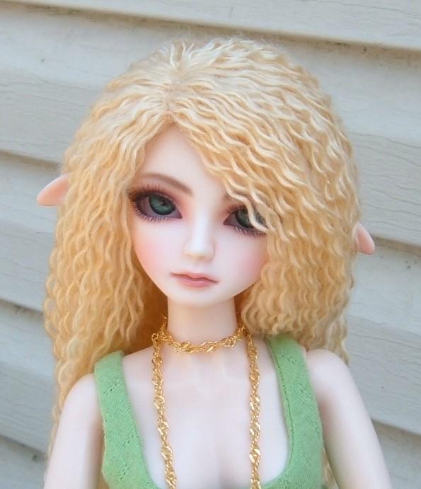 Как сделать из ниток волосы для вязаной куклы из 24