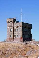 Cabot Tower (photo_cop) Tags: sky color tower nature weather clouds newfoundland outdoors nikon hill battery landmarks stjohns atlantic 2008 signal cabot nfld cabottower d40