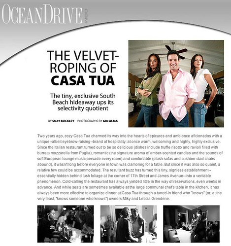 What Ocean Drive Says about Casa Tua