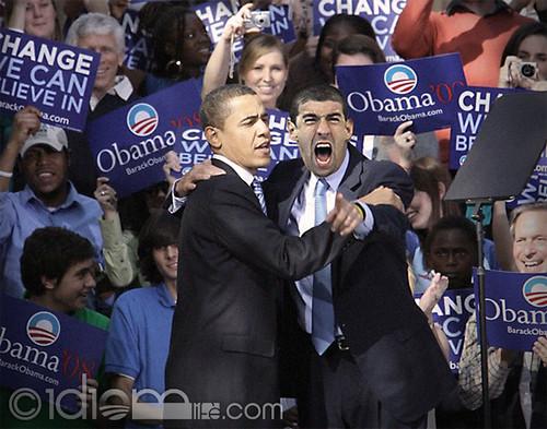 Barack Obama calms Michael Phelps