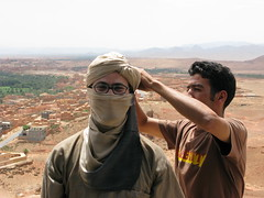 Todd becomes Ali Baba, on the way to the Sahara, Morocco