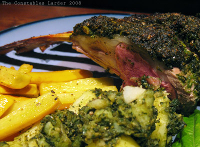 pesto lamb (plated)