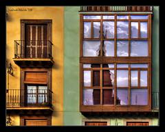 Reflexes del mudjar (Salva Mira) Tags: plaza square balcony zaragoza oldtown balcn plazadeespaa plaa cubism mudjar cascoantiguo aragn balc calatayud plaadespanya cascantic mywinners mudjar salvamira