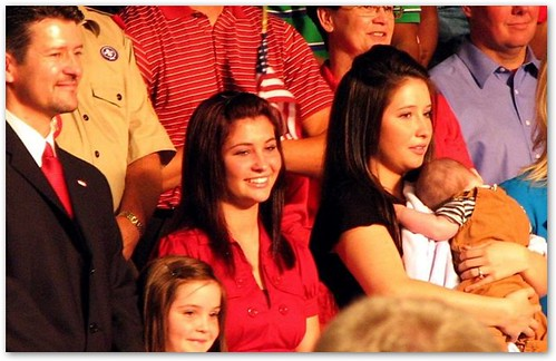 Bristol Palin Holding Baby Trig