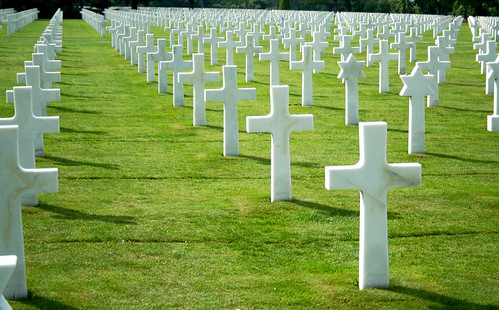 Crosses as far as the eye can see