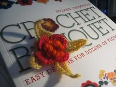 First Flower from Crochet Bouquet