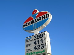 Standard Oil Elmhurst ([jonrev]) Tags: sign indiana torch american oil bp standard oval amoco