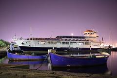 Il riposo dell'albatros (s.fornino) Tags: sea night canon boats eos mare barche albatros efs notte traghetto laspezia 1755 passeggiata morin 450d