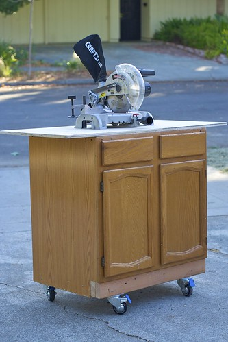 Completed Kitchen Cabinet Compound Miter Saw Work Table