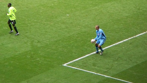 41. Quick! Throw it at the back of Heskey's head... he'll never know it was you