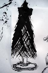 MEET ME - sketching - ink blots